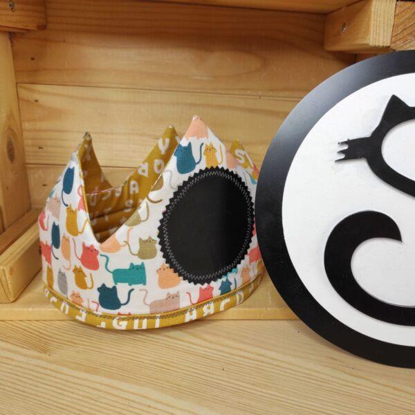 corona cumpleaños gatos